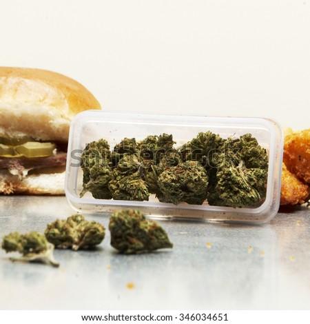 Marijuana and Junk Food, Munchies - stock photo