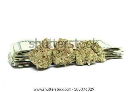 Marijuana and Money - stock photo