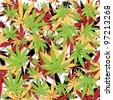 Marijuana background - stock vector