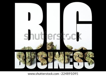 Marijuana Big Business - stock photo