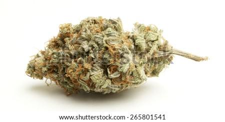 marijuana buds on white background  - stock photo