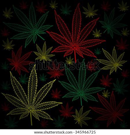 Marijuana-Cannabis-background - stock photo