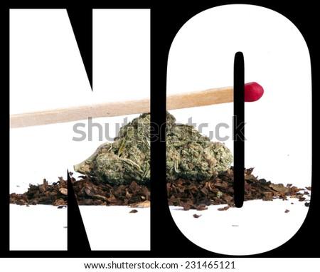 Marijuana Cannabis, No  - stock photo