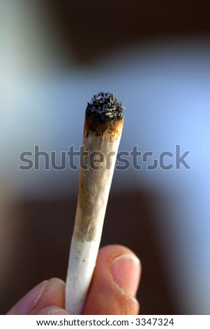 Marijuana cigarette #2 - stock photo