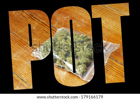 Marijuana Eat Edibles, Cooking and Eating THC or Weed - stock photo