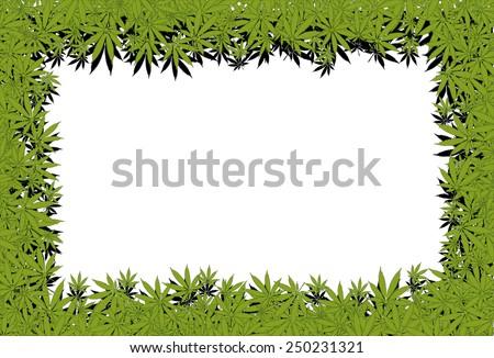 Marijuana frame - stock photo