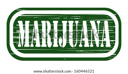 marijuana grunge stamp design - stock photo
