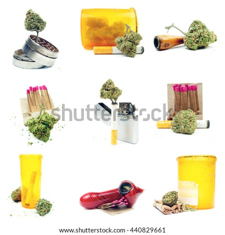 Marijuana Images; Layout Design and Collage