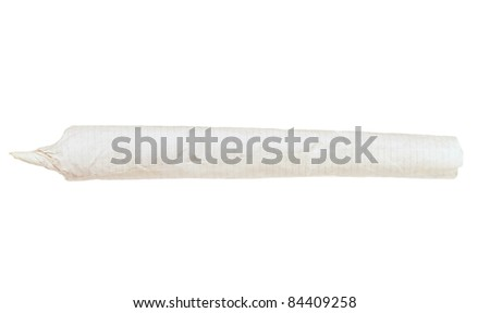 Marijuana Joint isolated on white background - stock photo
