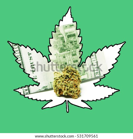 Marijuana Leaf Icon; pot cannabis and weed