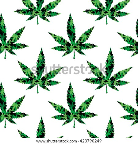 Cannabis pattern stock illustration 516323278 shutterstock for Weed leaf template