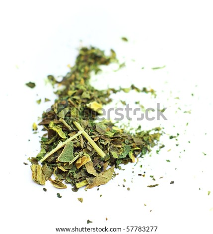 Marijuana on a white background - stock photo