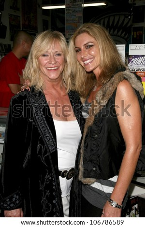 Marilyn Chambers and Meghan Noon  at the Girls and Corpses Hallowe'en Party and Autograph Signing, Meltdown Comics, Los Angeles, CA. 10-25-08