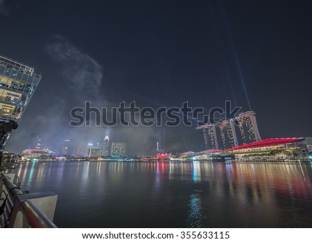 Marina Bay during the SG50 Celebrations