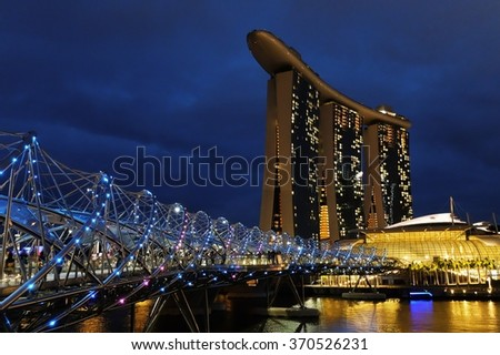 Marina Bay Sands and the Helix Bridge