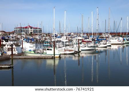 Marina in Astoria Oregon. - stock photo