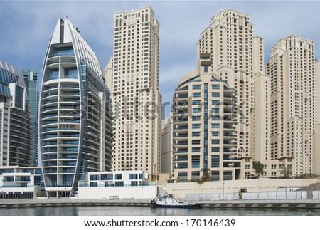 marina in Dubai - stock photo