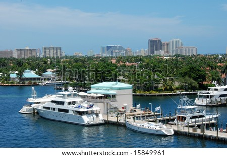 Marina in Fort Lauderdale Florida - stock photo