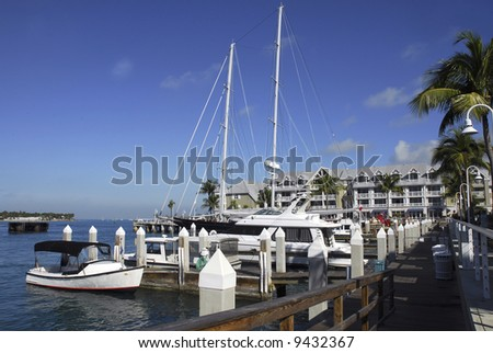 Marina in Key West - stock photo