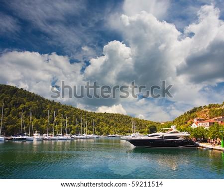marina in Skradin, Croatia - stock photo