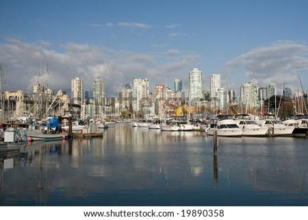 Marina in Urban Setting - stock photo