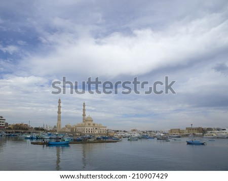 Marina mosque in Hughada (Egypt)
