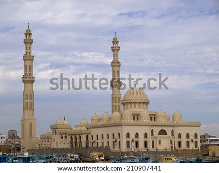 Marina mosque in Hughada (Egypt) - stock photo