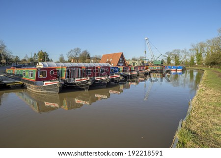 marina worcester and birmingham canal alvechurch worcestershire uk - stock photo