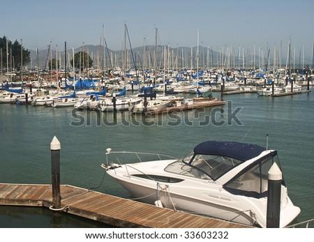 Marina Yacht Harbor in San Francisco - stock photo