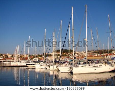 Marina yachts in Cesme - stock photo