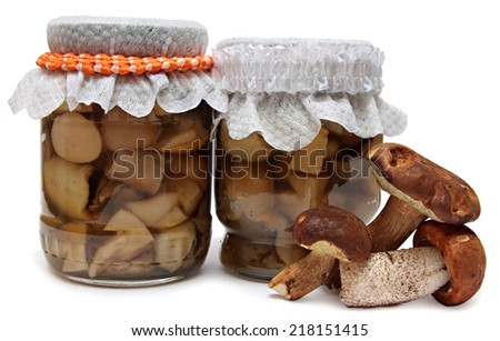 Marinaded mushrooms  - stock photo