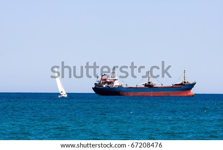 Marine boats will meet - stock photo