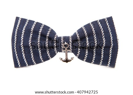 Marine Bow tie isolated on white background.
