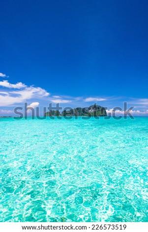 Marine Fantasy Desert Island  - stock photo
