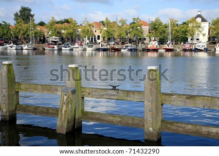 Marine in Blokzijl - old small town in Netherlands - stock photo