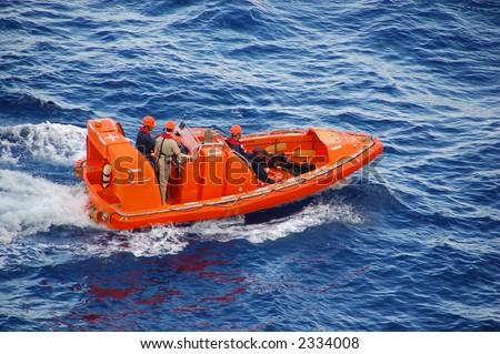 Marine rescue operation - stock photo