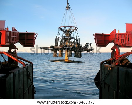 Marine research - stock photo