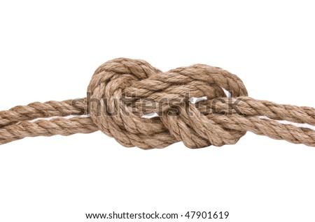 marines knot isolated on white background - stock photo