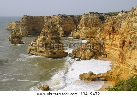 Marinha Beach in Algarve
