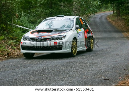MARINHA GRANDE, PORTUGAL - SEPTEMBER 17 : Pedro Meireles in Rallye Centro de Portugal - Shakedown September 17, 2010 in Marinha Grande, Portugal