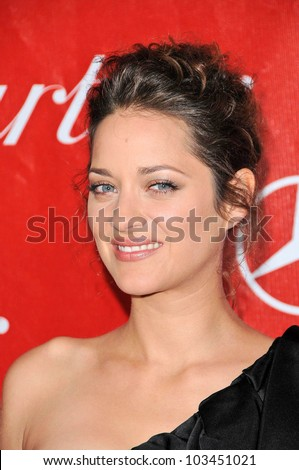 Marion Cotillard at the 2010 Palm Springs International Film Festival Awards Gala, Palm Springs Convention Center, Palm Springs, CA. 01-05-10 - stock photo