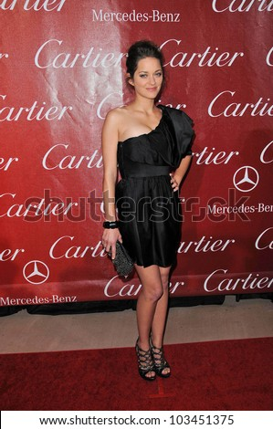 Marion Cotillard at the 2010 Palm Springs International Film Festival Awards Gala, Palm Springs Convention Center, Palm Springs, CA. 01-05-10