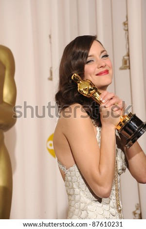 Marion Cotillard at the 80th Annual Academy Awards at the Kodak Theatre, Hollywood. February 24, 2008 Los Angeles, CA Picture: Paul Smith / Featureflash - stock photo