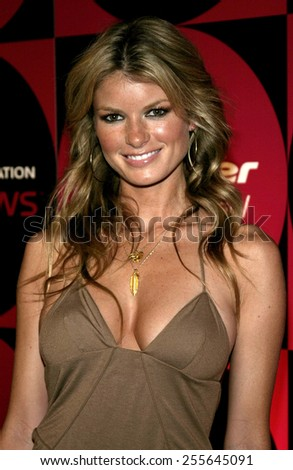 Marisa Miller attends the Pioneer Electronics Automotive Navigation Systems Launch Party held at the Montmartre Lounge in Hollywood, California, United States on April 21, 2005.  - stock photo