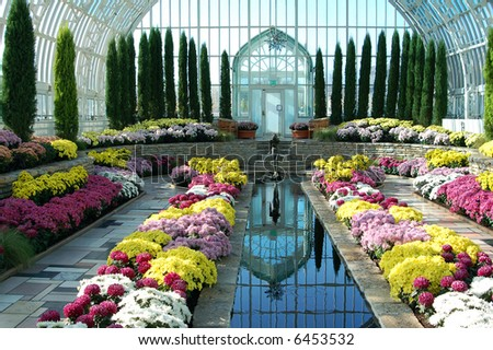 Marjorie McNeely Conservatory,  in St. Paul, Minnesota - stock photo