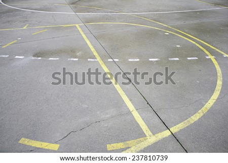 Mark basketball court sport, leisure and sports - stock photo