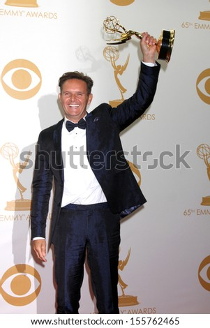 Mark Burnett at the 65th Annual Primetime Emmy Awards Press Room, Nokia Theater, Los Angeles, CA 09-22-13 - stock photo