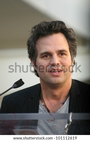 Mark Ruffalo at Bruce Dern, Laura Dern and Diane Ladd Honored with Stars on the Hollywood Walk of Fame, Hollywood, CA. 11-01-10 - stock photo