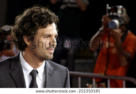"Mark Ruffalo attends the ""Just Like Heaven"" Los Angeles Premiere held at the Grauman's Chinese Theatre in Hollywood, California on September 8, 2005."