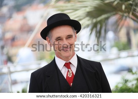 Mark Rylance attends 'The BFG (Le Bon Gros Geant - Le BGG)' photocall during the 69th annual Cannes Film Festival at the Palais des Festivals on May 14, 2016 in Cannes, France. - stock photo